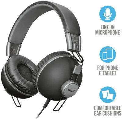 Наушники TRUST Noma Headphones Matte Black 2