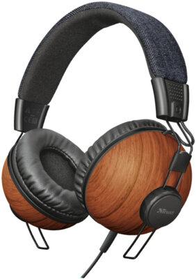 Навушники TRUST Noma Headphones Denim Wood 1