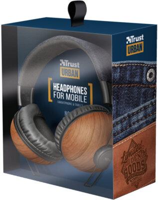 Навушники TRUST Noma Headphones Denim Wood 6