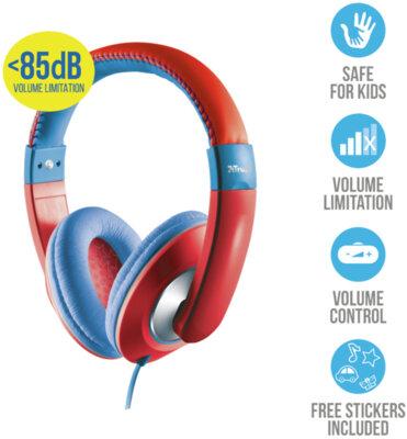 Наушники TRUST Sonin Kids Headphone Red 4