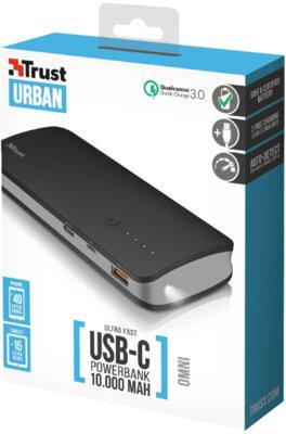 Мобильная батарея TRUST Omni ultra fast 10000mAh with USB-C 7