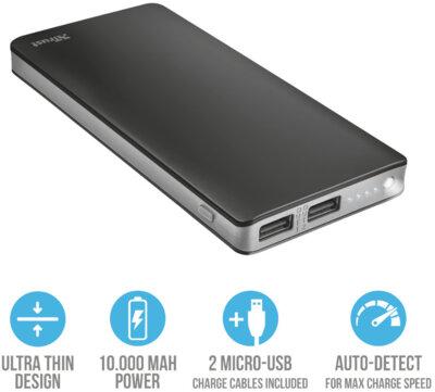 Мобильная батарея TRUST Primo Thin 10000 3