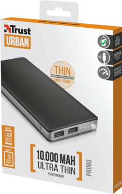 Мобильная батарея TRUST Primo Thin 10000 8