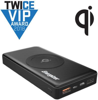 Мобильная батарея ENERGIZER QE10000CQ 10000mAh Qi Wireless TYPE-C QC3.0 Black 2
