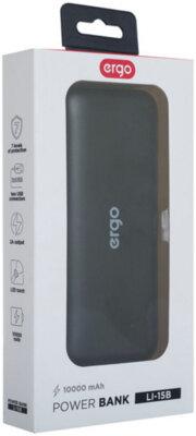 Мобільна батарея ERGO LI-15 10000 mAh Black 10