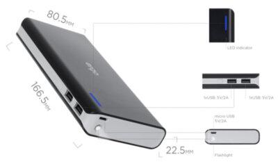 Мобільна батарея ERGO LI-88 20000 mAh Black 7