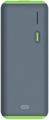 Мобильная батарея ERGO LI-S86 12500 mAh Rubber Grey 1
