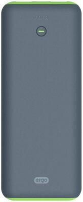 Мобильная батарея ERGO LI-S90 20000 mAh Li-ion Rubber Grey 1