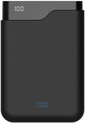 Мобільна батарея ERGO LI-U4 10000 mAh TYPE-C Rubber Black 1