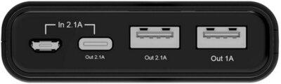Мобильная батарея ERGO LI-U4 10000 mAh TYPE-C Rubber Black 3