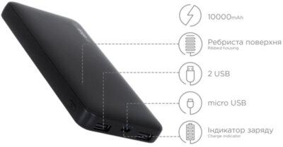Мобільна батарея ERGO LP-103 10000 mAh Black 6