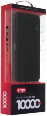 Мобільна батарея ERGO LP-103 10000 mAh Black 10