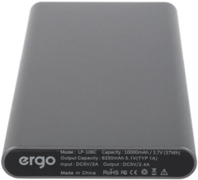 Мобильная батарея ERGO LP-106 10000 mAh TYPE-C Space Gray 4