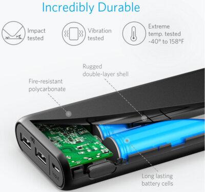 Мобильная батарея ANKER PowerCore V3 15600 mAh Black 6