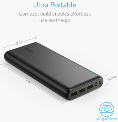 Мобільна батарея ANKER PowerCore 26800 mAh Black 2
