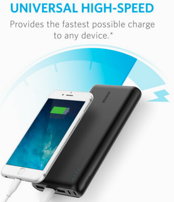 Мобільна батарея ANKER PowerCore 26800 mAh Black 3