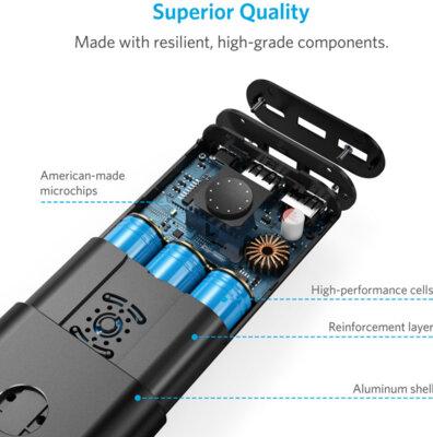 Мобільна батарея ANKER PowerCore+ 20100 USB-C V3 Black 6