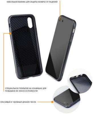 Чохол Intaleo Real Glass для Samsung Galaxy A6 A600 Black 2
