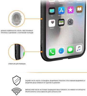 Чохол Intaleo Real Glass для Samsung Galaxy A6+ A605 Black 2