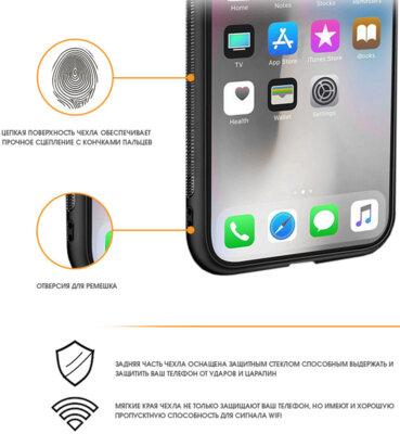 Чехол Intaleo Real Glass для Samsung Galaxy A7 2018 (A750) Black 2