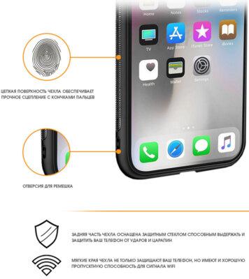 Чехол Intaleo Real Glass для Samsung Galaxy J4 J400 Black 2