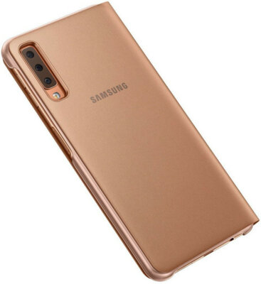 Чехол Samsung Wallet Cover для Galaxy A7 (2018) A750 Gold 2