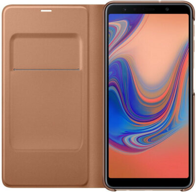 Чехол Samsung Wallet Cover для Galaxy A7 (2018) A750 Gold 4