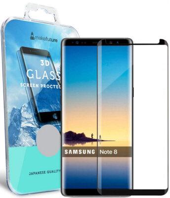 Защитное стекло MakeFuture 3D для Samsung Galaxy Note 8 Black 1