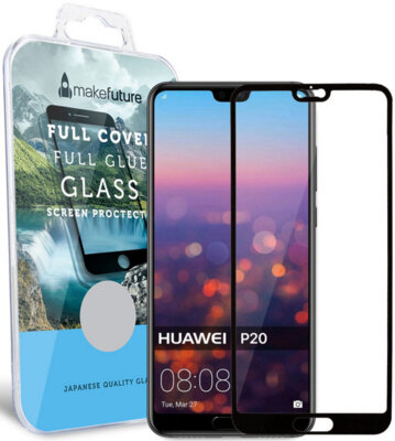 Захисне скло MakeFuture Full Cover Glue для Huawei P20 Black 1