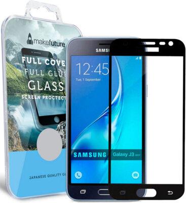 Защитное стекло MakeFuture Full Cover Glue для Samsung Galaxy J3 (2017) J330 Black 1