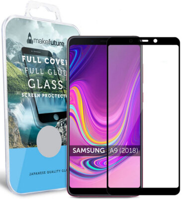Защитное стекло MakeFuture Full Cover Glue для Samsung Galaxy A9 (2018) A920 Black 1