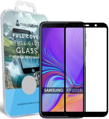 Защитное стекло MakeFuture Full Cover Glue для Samsung Galaxy A7 (2018) A750 Black 1