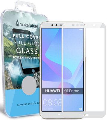 Защитное стекло MakeFuture Full Cover Glue для Huawei Y6 Prime 2018 White 1