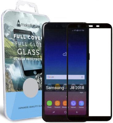 Защитное стекло MakeFuture Full Cover Glue для Samsung Galaxy J8 J810 Black 1