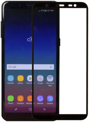 Защитное стекло MakeFuture Full Cover Glue для Samsung Galaxy J8 J810 Black 2