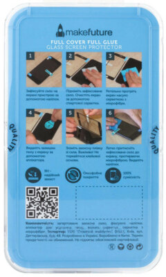 Защитное стекло MakeFuture Full Cover Glue для Samsung Galaxy J8 J810 Black 3
