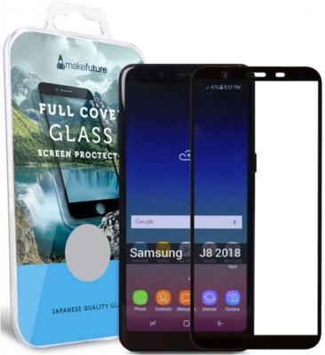 Защитное стекло MakeFuture Full Cover для Samsung Galaxy J8 J810 Black 1