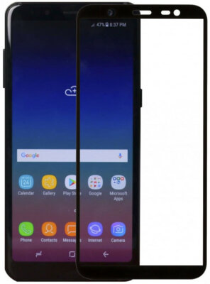 Защитное стекло MakeFuture Full Cover для Samsung Galaxy J8 J810 Black 2