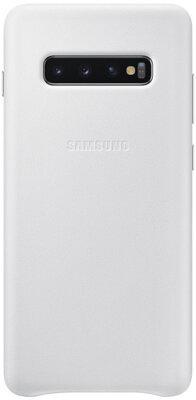Чехол Samsung Leather Cover White для Galaxy S10+ G975 1