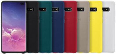 Чехол Samsung Leather Cover White для Galaxy S10+ G975 5