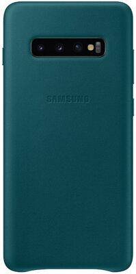 Чехол Samsung Leather Cover Green для Galaxy S10+ G975 1