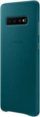 Чехол Samsung Leather Cover Green для Galaxy S10+ G975 3