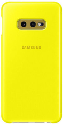 Чехол Samsung Clear View Cover Yellow для Galaxy S10e G970 1