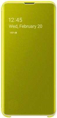 Чехол Samsung Clear View Cover Yellow для Galaxy S10e G970 2