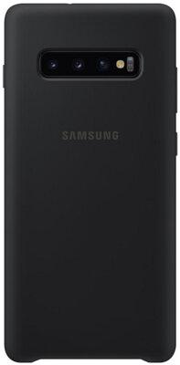 Чехол Samsung Silicone Cover Black для Galaxy S10+ G975 1