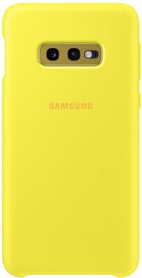 Чехол Samsung Silicone Cover Yellow для Galaxy S10e G970 1