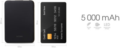 Мобільна батарея Nomi S050 5000mAh Black 5
