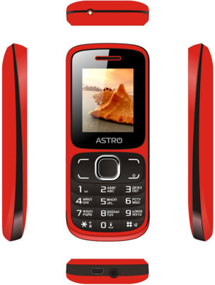 Мобильный телефон ASTRO A177 Red/Black 3