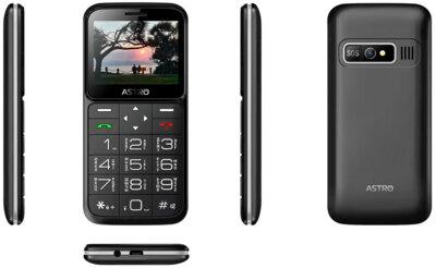 Мобільний телефон ASTRO A186 Black 3