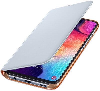 Чехол Samsung Wallet Cover White для Galaxy A50 A505F 3